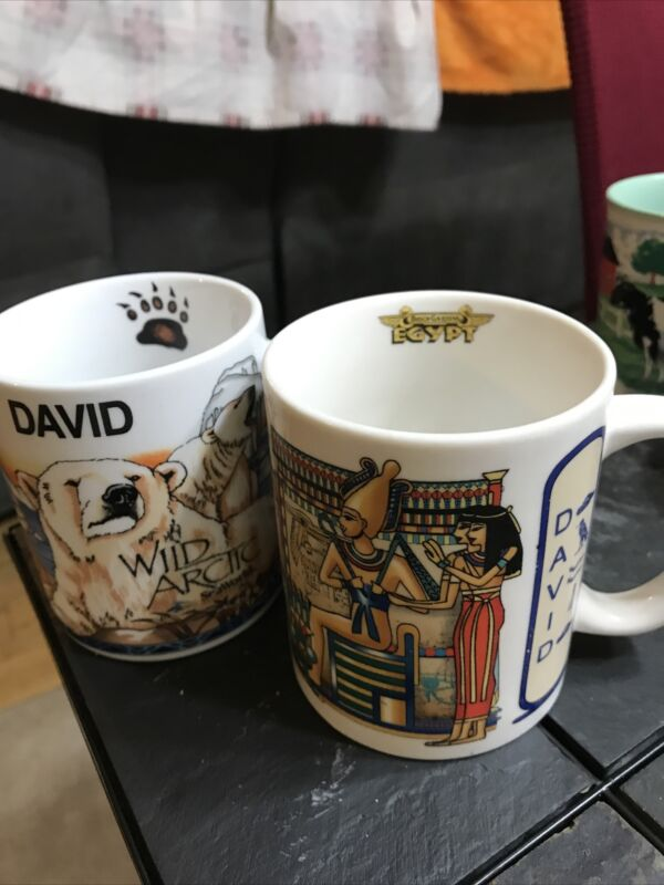 Seaworld and Busch  Gardens Coffee Cup name David