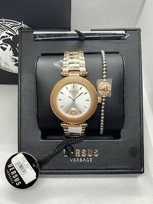 NEW AUTHENTIC VERSUS BY VERSACE BRICK LANE GOLD WOMEN'S VSP641618 WATCH