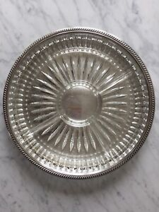 EP Brass antique silver serving tray