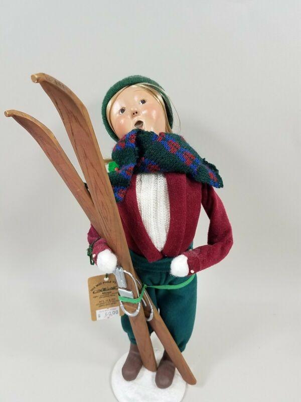 Byers Choice Adult Woman Skier LE 37/100 w Repair & Org Tag 2001 READ