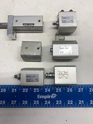 Lot Of 6 Smc Cdq2... Compact Pneumatic Cylinders Warranty Fast Shipping
