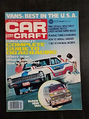 Car Craft Feb 1977 Complete Guide to Drag Racing - Best Vans in the USA -