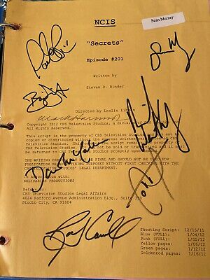 Signed NCIS Script Episode 201 Secrets