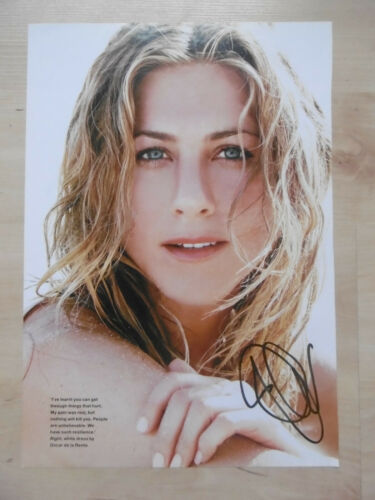 Jennifer Aniston Autogramm signed A4 Magazinbild