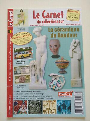 Magazine (comme neuf) - Le carnet du collectionneur 217 (mai 2016)