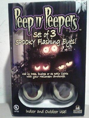 New Peep n' Peepers Flashing Eyes Halloween Lights set of 3  - Peep N Peepers