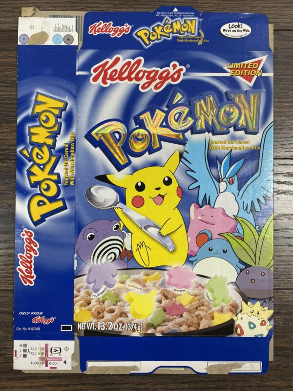 Limited Edition Kellogs Pokemon  Empty Cereal Box 2000