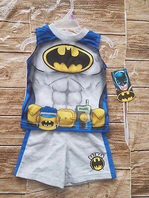 DC Comics Batman Baby Boys Tank Top and Shorts Outfit Set Size 12,24 - Batman And Baby