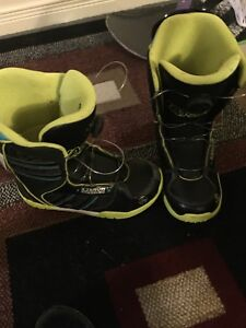 Youth size 6 snowboard boots