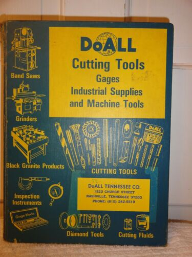 Vintage 1965 DoALL Cutting Tools Gages Industrial Supplies Machine Tools Catalog