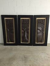 3 x Connected Buddha Heads on Frames Carina Brisbane South East Preview