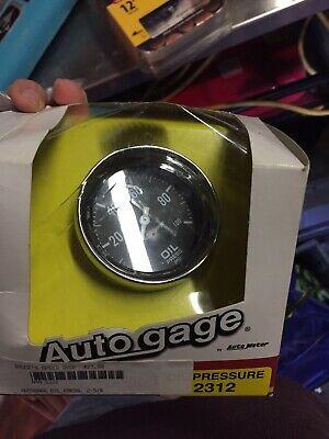 2-5/8 Inch Mechanical Oil Pressure Gauge Kit Autogage by AutoMeter 2312 Autometer Autogage Mechanical Oil