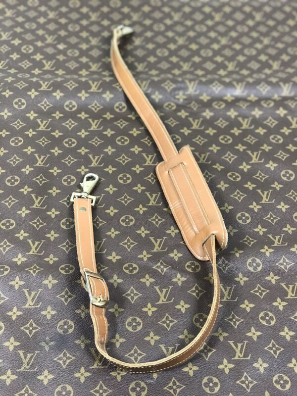 Louis Vuitton Vintage French Co Leather Cross Body Luggage Shoulder Strap