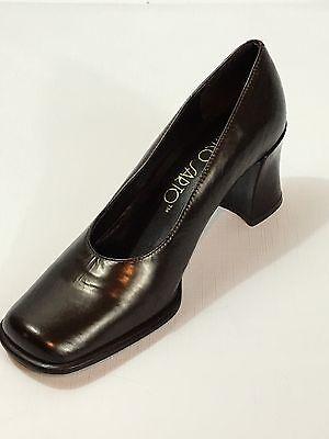 Women's Franco Sarto Brown Chunky Heel Platform Wedge Shoes - 7 1/2 M - Brazil 1/2 Chunky Heel Platform