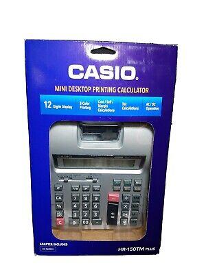 Casio Hr-150tm Plus Business Desktop 2-color Printing Calculator New In Package