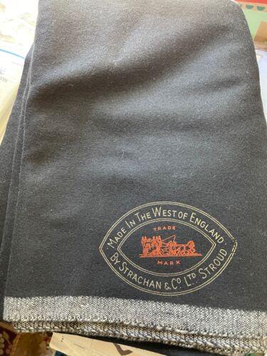 Strachan black wool pool table cloth (bm)