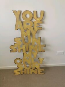 You are my sunshine wall metal art