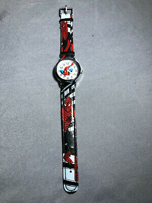 Brand NEW Marvel Spiderman Wrist Watch for Boy's Black Red Color Adjustable Band