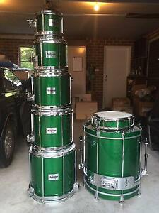 7 Piece 1994 Vintage Sleishman Free Floating Drum Set Hornsby Heights Hornsby Area Preview