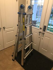 Master craft A frame articulating extension ladder