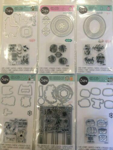 Sizzix Framelits Stamp & Die Set Pick 1 of 9 Stamps & Dies NEW
