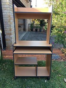 Near new study desk + leather stationery box Padstow Bankstown Area Preview