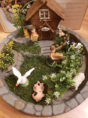 Nib Alpine Farm Family Miniature Garden Kit Outdoor Indoor Decor
