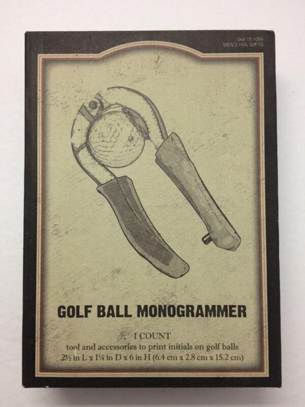 """GOLF BALL MONOGRAMMER""- new in box"