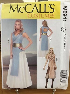 McCall's M6941- SciFi Star Wars Costume  - Size AX5 4-5-8-10-12 New Unused  - Sci Fi Female Costumes