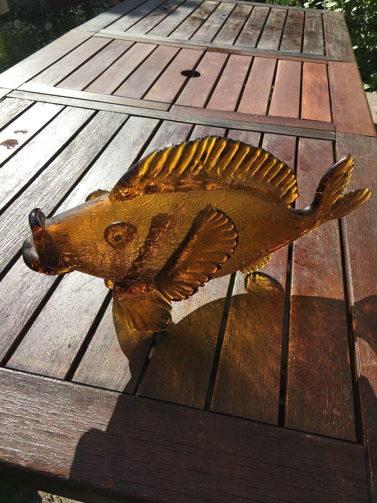 GRANDE PESCE IN VETRO DI MURANO 50s GLASS FISH
