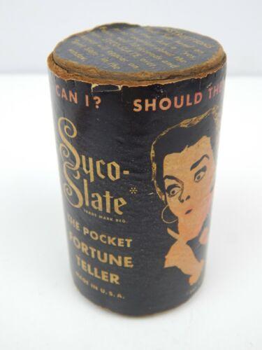 5G Syco-Slate The Pocket Fortune Teller Glass Jar Early Magic Eight Ball 1940