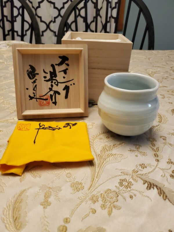 Masamichi Yoshikawa Japanese Yunomi Blue Porcelain Drinking  Cup