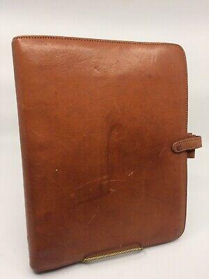 Vintage Rare Brown Calf Leather Filofax Deskfax York Director Italy 11 By 9 B5