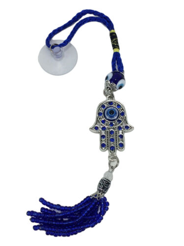 Hamsa Palm Evil Eye Protection Charm Tassel Hanger Turkish Feng Shui