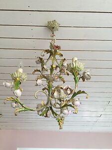 Vintage Florentiner Deckenlampe Blüten Shabby Chic