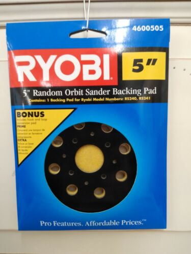 "Ryobi 5"" Random Orbit Sander Backing Pad Pads 4600505 RS240 RS241"