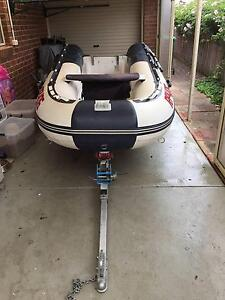 Rigid Inflatable with 15HP Mariner with Tracer Fold Up Trailer Pakenham Cardinia Area Preview