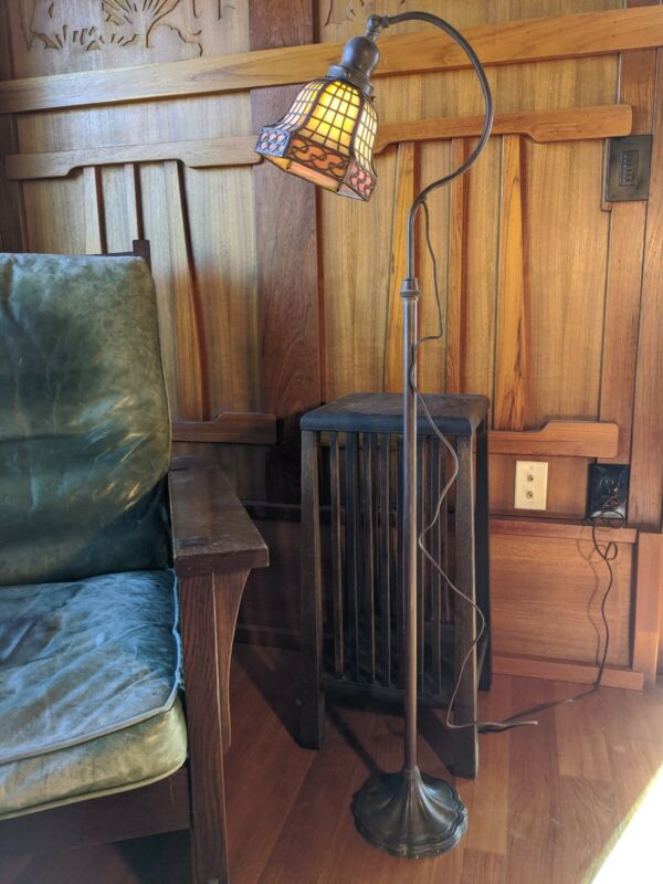 Handel goose neck floor/table lamp,mission,arts and crafts