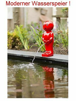 Gargoyle for Pond Solar Pump Garden Fountain Figure Garden Pond Decoration