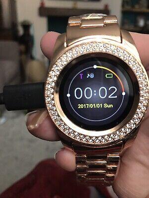 Timothy Stone Certified Swarovski Smart Watch - Rose Gold- Women's LED Display