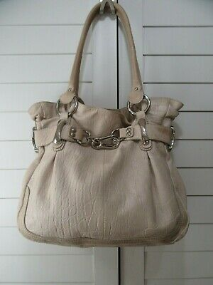 B. Makowsky Large Pebbled Leather Slouchy HandBag Shoulder Bag w/ Tan color Slouchy Leather Bags