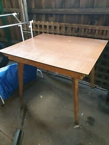 Vintage extendable dining table.