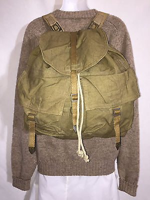 1940s Handbags and Purses History Vintage 1940's - 50's Army Backpack Military Camping Bug Out Bag Gifts for Men $55.25 AT vintagedancer.com