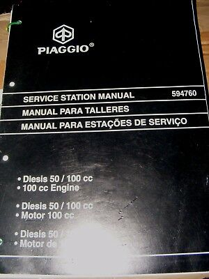 PIAGGIO DIESIS 50/ 100cc ENGINE SERVICE STATION MANUAL