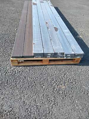 WPC Composite Garden Wood Decking Capped Boards Dark Brown 24x3.6m 86m Linear