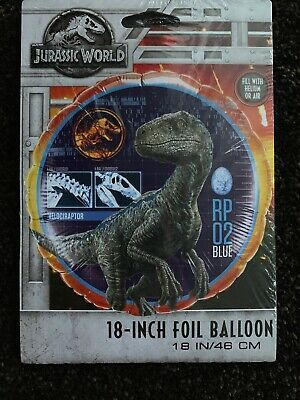 Jurassic World Velociraptor Foil Balloon 46cm (18 inch) Birthday Dinosaur - Dinosaurs Birthday