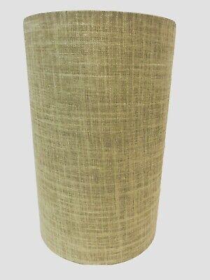 """Vintage Mid Century Modern Barrel Drum Lamp Shade 11""""H 7"""" D Beige"""