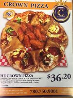 Crown pizza  hiring delivery driver  5 to 12/ 7 days a week