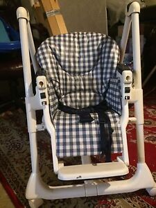 White and black gingham swing chair