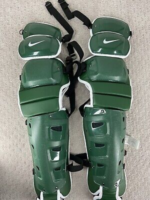 """Nike Vapor Baseball Catchers Gear Leg Shin Guards Size 20"""" New Green"""